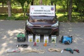 Karaman'da köylere dadanan hırsız kiralık araçla yakalandı!