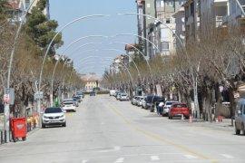 Karaman'da sokağa çıkma kısıtlaması nedeniyle sessizlik hakim