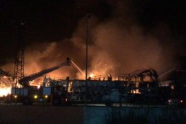 Mersin'de narenciye fabrikasında yangın