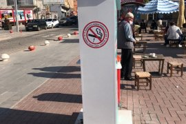 Sigara yasağına karşı ikaz levhaları yerleştirildi