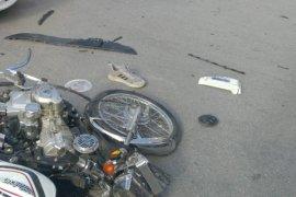 Karaman'da motosiklet ile otomobil çarpıştı