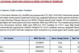 Albaraka Türk hissesinde yakalandılar! SPK 6 isme yasak getirdi