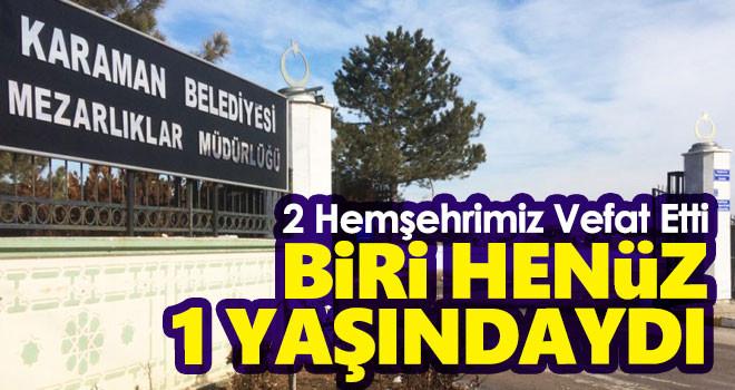 8 Eylül Karaman'da vefat edenler