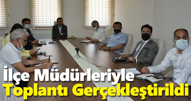 Karaman'da ilçe milli eğitim müdürleri toplantısı