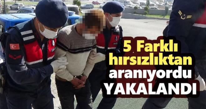 5 farklı hırsızlığın zanlısı yakalandı
