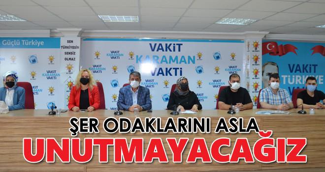 AK Parti Karaman İl Başkanlığından 27 Mayıs darbesine ilişkin basın açıklaması