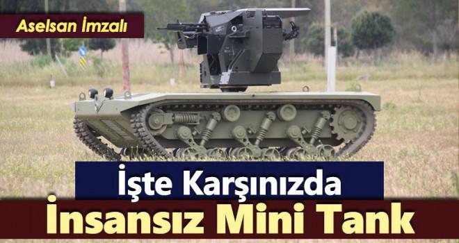 'İnsansız mini tank' için seri üretim...