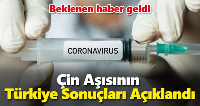 Çin aşısının Türkiye sonuçları açıklandı, İşte etkinlik oranı