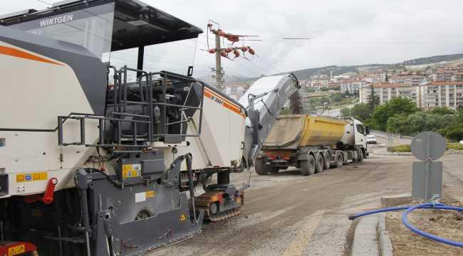 Ankara Büyükşehir Belediyesinden asfalt çalışması