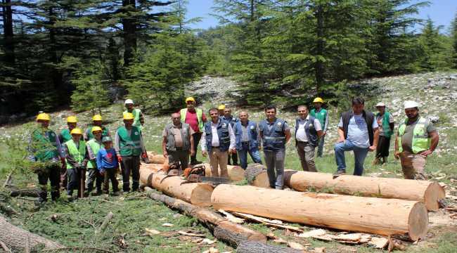 Mersin Orman Bölge Müdürü Akduman'dan orman işçilerine ziyaret