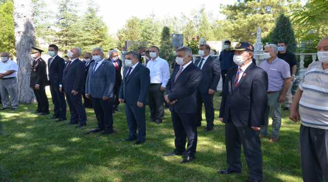 Karaman'da şehitlikte bayramlaşma töreni düzenlendi