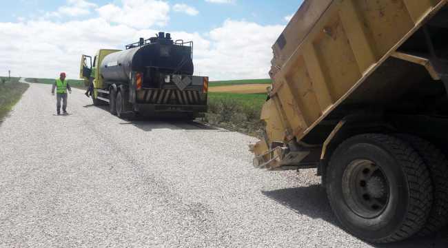 Sorgun'da köy yolları asfaltlanıyor