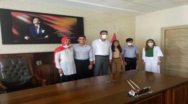 Antakya Milli Eğitim Müdürü Çerko, başarılı öğrencileri kutladı