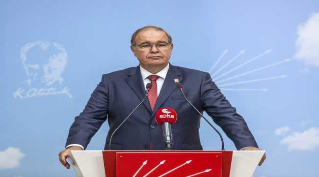 CHP Sözcüsü Faik Öztrak, MYK sürerken açıklamalarda bulundu:
