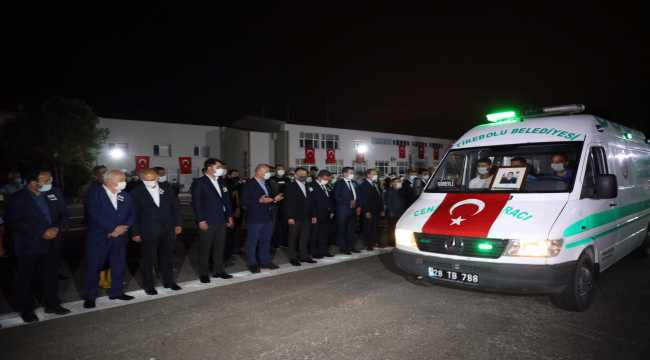 Giresun'da selde şehit olan Jandarma Uzman Çavuş  Aykut Variyenli için tören düzenlendi