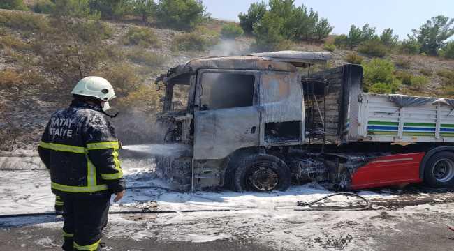 İskenderun'da tır yangını