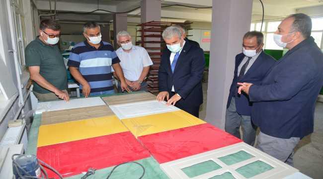 Kırşehir Valisi Akın, Mesleki Eğitim Merkezini ziyaret etti