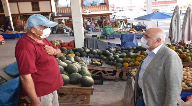 Kızılcahamam Belediye Başkanı Acar, pazar yerini ziyaret etti