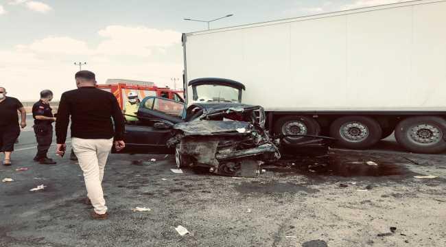 Konya'da trafik kazasında 1 kişi öldü, 2 kişi yaralandı