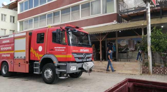 Kozan'da market yangını