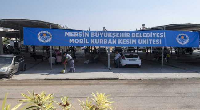Mersin'de belediyeden ücretsiz kurban kesimi ve ulaşım hizmeti