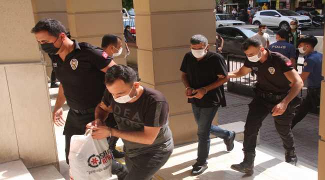 Adana merkezli suç örgütü operasyonunda yakalanan zanlılardan 10'u tutuklandı