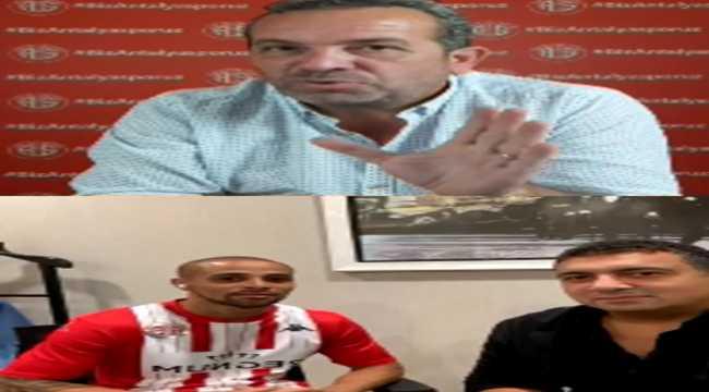 Antalyaspor Başkanı Öztürk, sosyal medya canlı yayınında açıklamalarda bulundu: