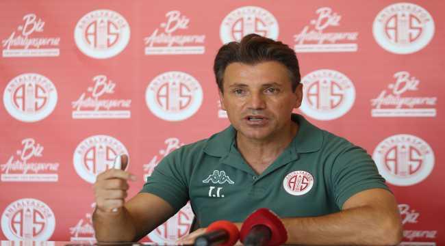 Antalyaspor Teknik Direktörü Tamer Tuna, Beşiktaş maçı için umutlu: