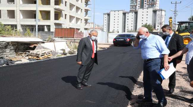 Başkan Büyükkılıç, Tapu Kadastro Bölge Müdürlüğü çevresindeki çalışmaları denetledi
