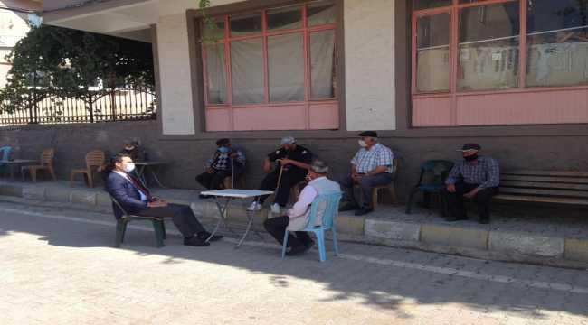 Derebucak Kaymakamı Selçuk'un dış mahalle ziyaretleri