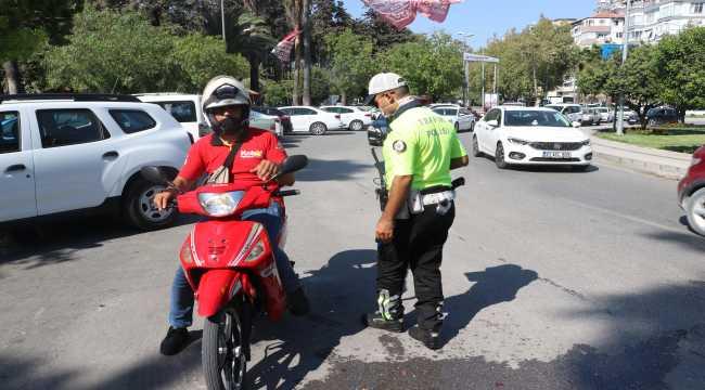 Hatay'da motosiklet sürücülerine yönelik denetim yapıldı