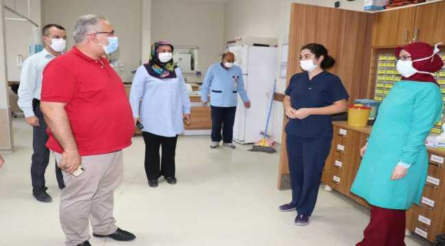Karapınar Süt Üreticileri Birliğinden sağlık çalışanlarına moral ziyareti