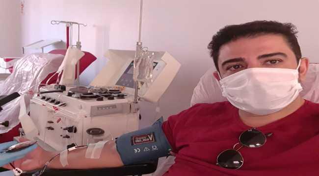 Kayserispor Başkan Vekili Onur Gözbaşı'dan immün plazma bağışı