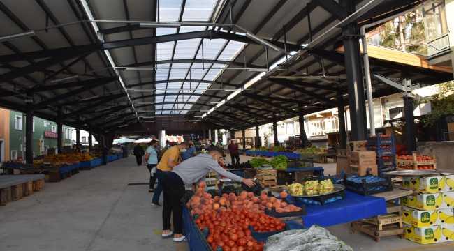 Kızılcahamam'da yeni pazar yeri, hizmete girdi