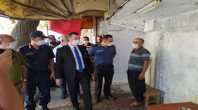 Kozan'da maske ve sosyal mesafe kuralını ihlal edenlere para cezası