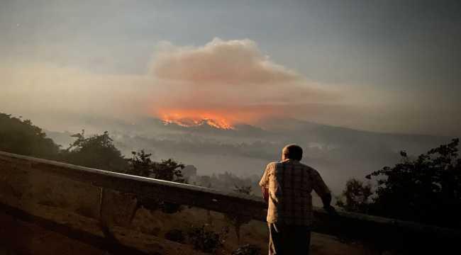 Nallıhan'da dün çıkan orman yangınını söndürme çalışmaları sürüyor