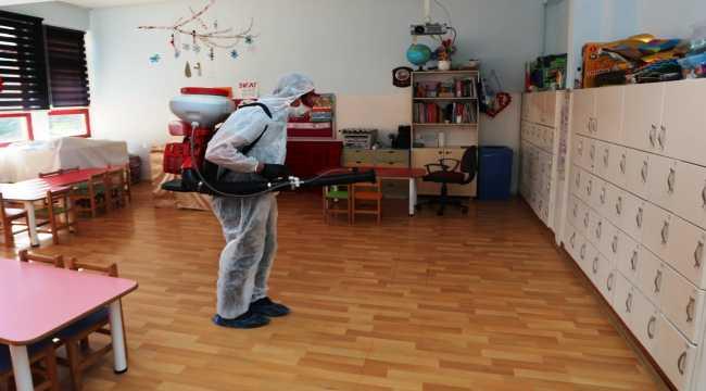 Nevşehir'deki okullarda dezenfekte çalışması