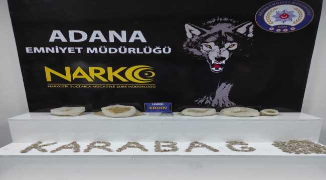 Adana'da evin mutfağından 2 kilo 75 gram eroin çıktı