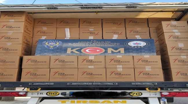 Adana'da kaçak 28 milyon 800 bin makaron ele geçirildi