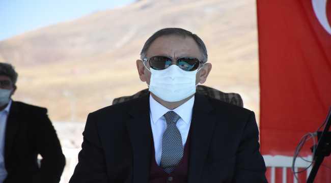 AK Parti'li Özhaseki Erciyes'te otel temel atma töreninde konuştu: