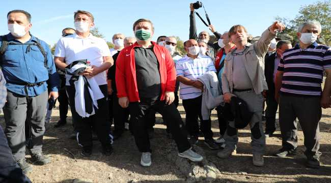 Aksaray'da sağlıklı yaşam için doğa yürüyüşü yapıldı