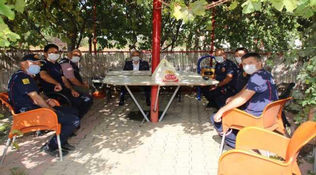 Akşehir Belediye Başkanı Akkaya'dan İtfaiye Merkezi'ne ziyaret