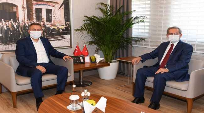 Ankara Üniversitesi Rektörü Ünüvar'dan Adana Valisi Elban'a ziyaret