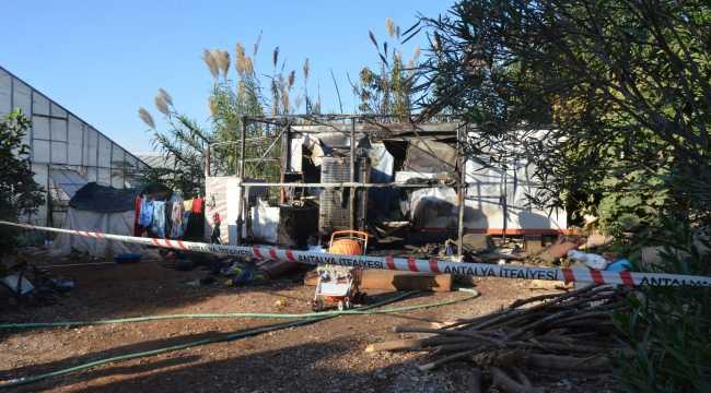 Konteyner barakada çıkan yangında 6 aylık bebek öldü
