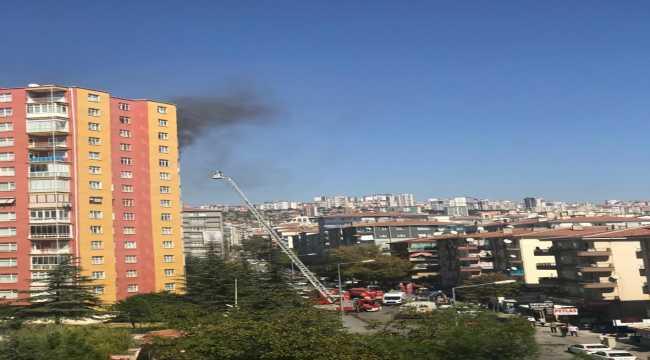 Başkentte çıkan yangında bir ev kullanılamaz hale geldi