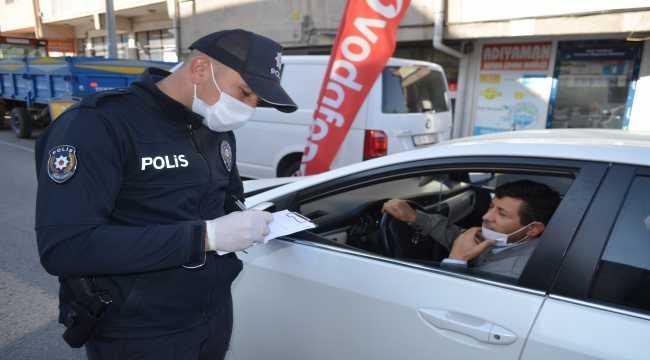 Bünyan'da polisten maske denetimi