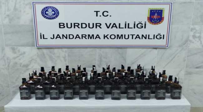 Burdur'da kaçak içki operasyonunda 4 şüpheli yakalandı
