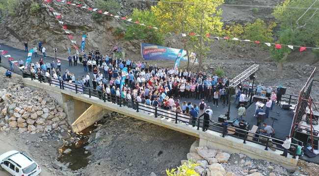 Feke'de 3 köprünün açılışı gerçekleştirildi