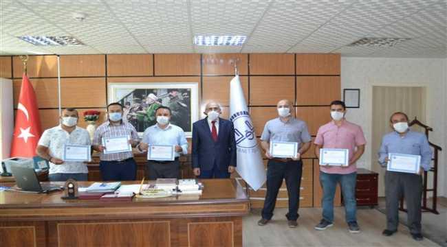 Kırşehir'de Vefa Sosyal Destek Grubu görevlilerine teşekkür belgesi verildi
