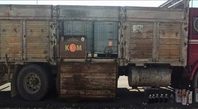 Konya'da kamyonda 14 bin litre kaçak akaryakıt ele geçirildi